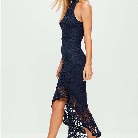 e780b339b627 Missguided lace high neck fishtail dress. M_5a65233ecaab4432165432ef